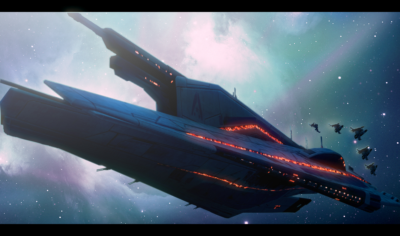 Mass Effect 3 - Vehicles, Spaceships and Reapers.