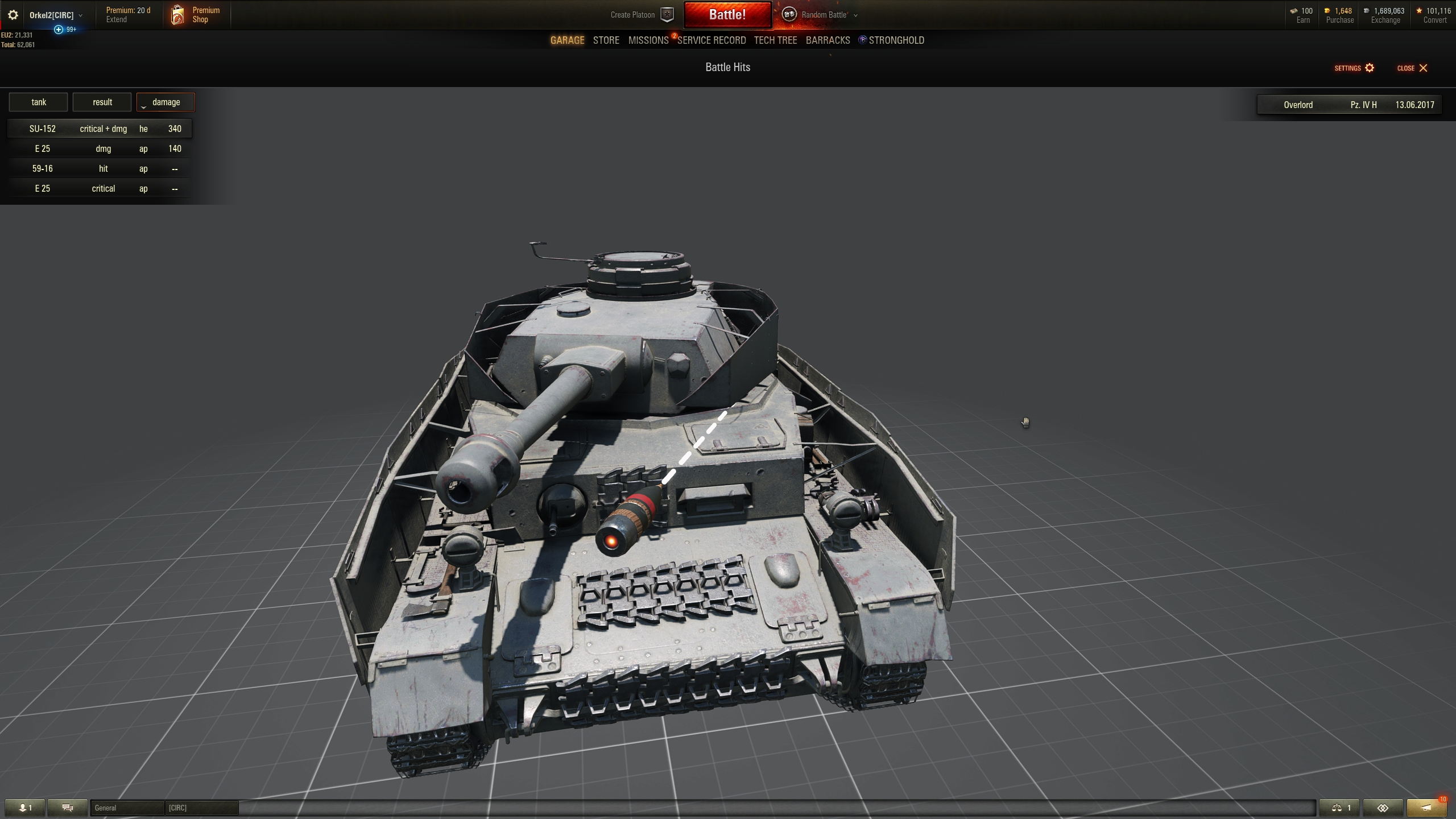 The Russian mod which allows hits to be viewed after battle